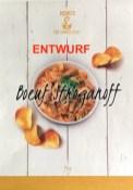 Henry's Fine Dinner Crisps Boeuf Stroganoff Verpackungsentwurf Teller