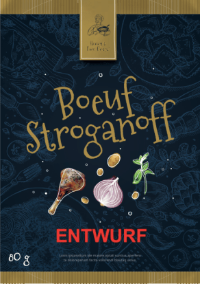 Henry's Fine Dinner Crisps Boeuff Stroganoff Gold-Schwarz