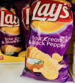 Lays Sour Cream+Black Pepper Kartoffelchips