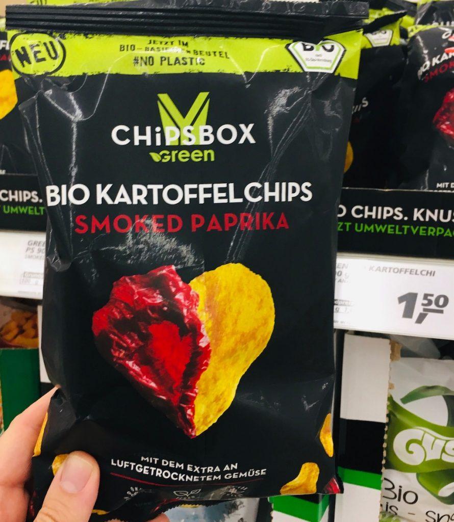 My Chipsbox Green Bio Kartoffelchips Smoked Paprika