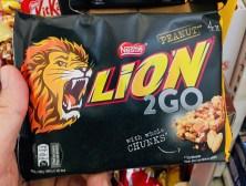 Nestlé Lion Peanut 2Go Whole Chunks 4er
