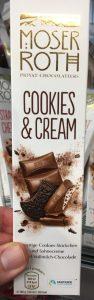 Aldi Moser-Roth Cookies+Cream Schokoladenriegel