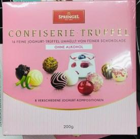 Aldi Sprengel Confiserie-Trüffel ohne Alkohol 8 Joghurt-Kompositionen