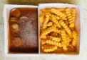 EDEKA Gut&Günstig Currywurst und Pommes Mikrowelle gefroren