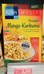 Kölln Müsli Knusper Mango-Kurkuma 450 Gramm