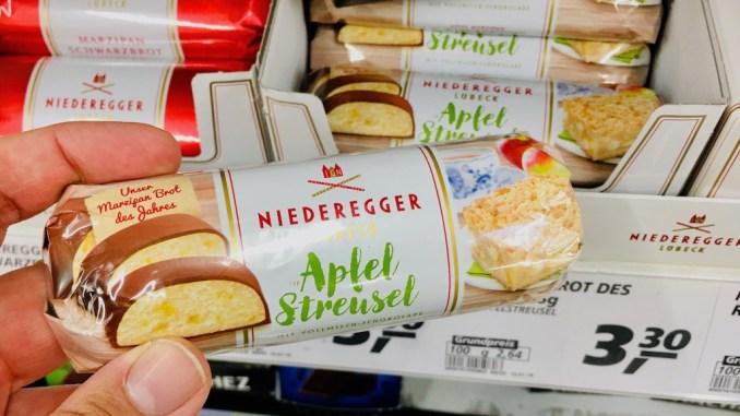 Niederegger Marzipanbrot Apfel-Streusel-Kuchen