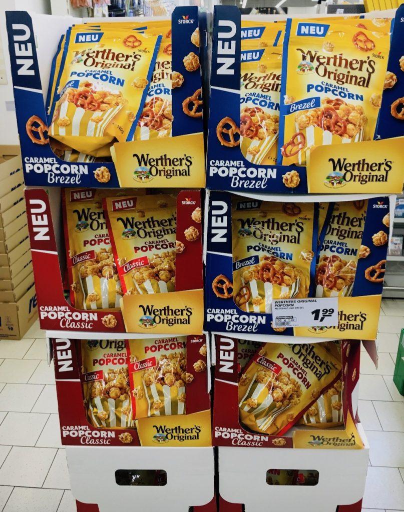 Storck Werthers Original Caramel Popcorn Classic+Brezel Display
