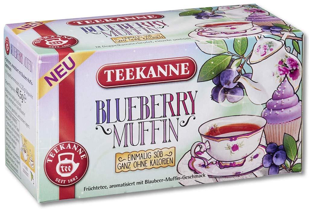Teekanne Teebeutel Blueberry Muffin Geschmack