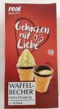 real Quality Gebacken mit Liebe Waffelbecher 16 Stück
