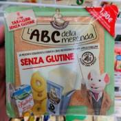 L'ABC della Merenda Senza Glutine Pausensnack mit Fruchtsaft Crissini und Käse