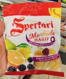 Katjes Sperlari Morbide Magie Arcobaleno alla Frutta Brombeere-Birne-Zitrone-Orange