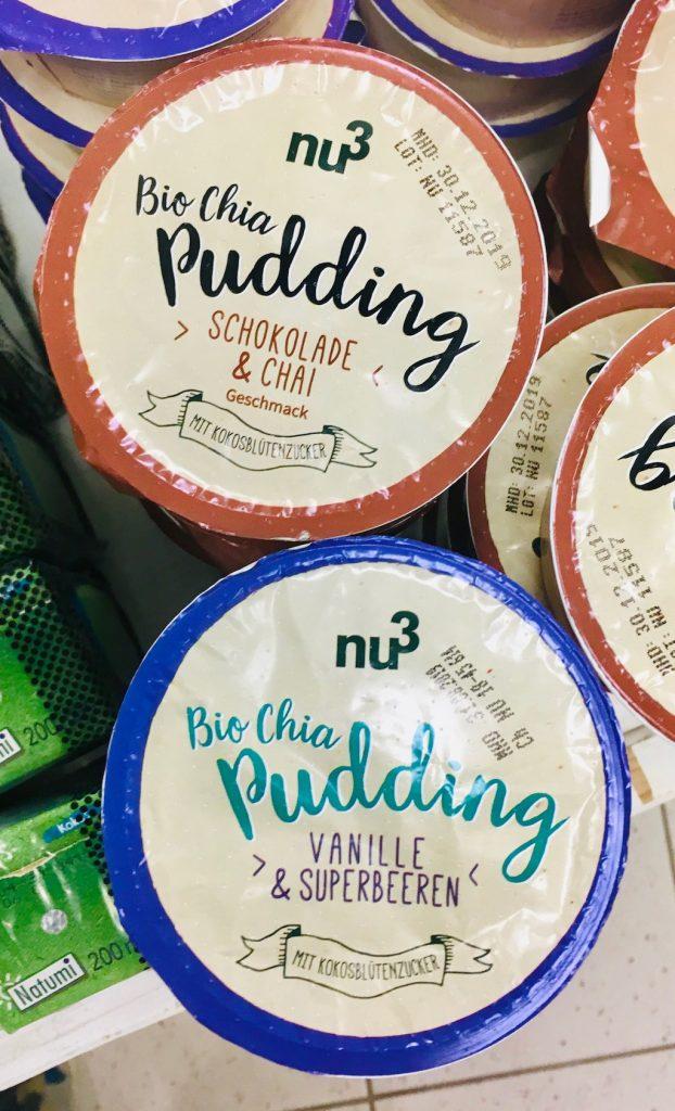 nu3 Bio Chia Pudding Schokolade+Chai Vanille+Superbeeren