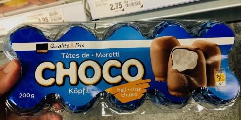 COOP Schweiz Tets de Choco Moretti Schokoküsse