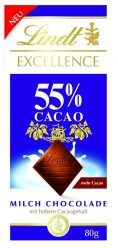 Lindt Excellence 55 Caco mit Milch