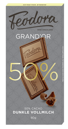 Grand ´Or 80g Dunkle Vollmilch 50%