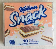 Manner Snack Minis Haselnussschnitten