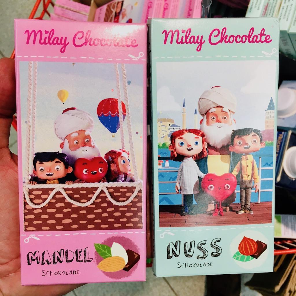 Milay Chocolate Mandel und Nuss Kindermotive