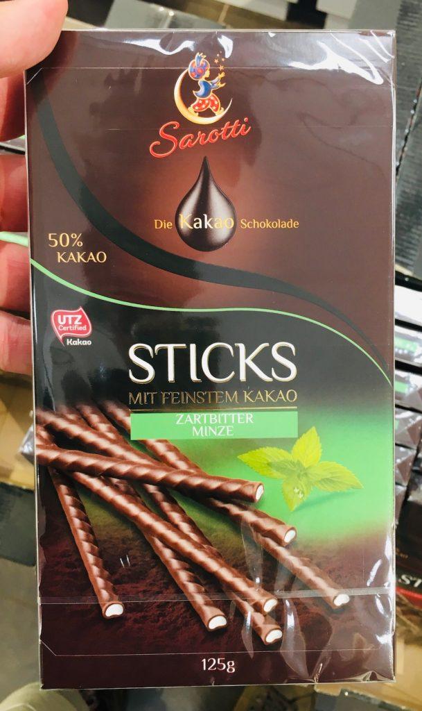 Sarotti Sticks Zartbitter Minze 125 Gramm