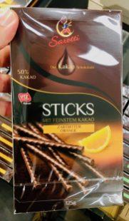Orangenschokolade Sarotti Sticks Zartbitter-Orange 125G
