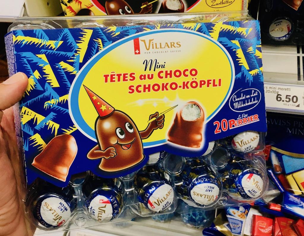 Villars Mini Tetes au Choco Schoko-Köpfli SChweiz