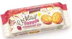 Kekse mit dem Geschmack des Strawberry Kiss-Cocktails von der Coppenrath Bakery.