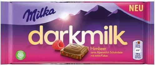 Darkmilk von Milka mit Himbeere.
