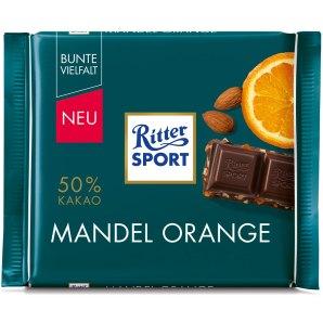 Orangenschokolade Mandel Ornage von Ritter Sport.