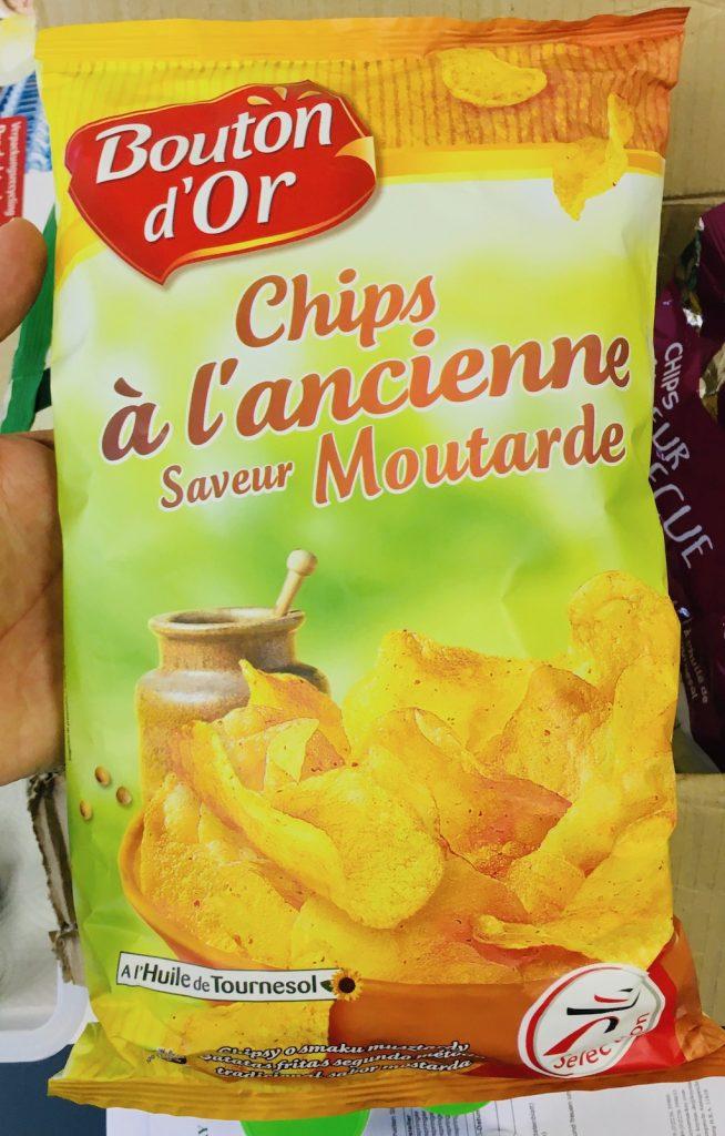 Bouton d'Or Kartoffelchips Senfgeschmack Frankreich