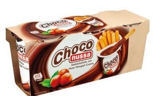 Choco Nussa Gebäcksticks mit Nussnougat-Creme zum tunken