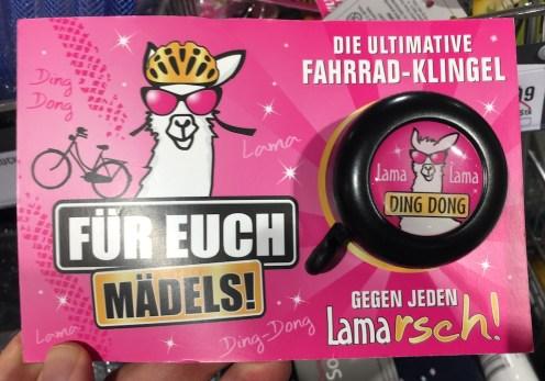 Fahrradklingel Lama für Mädels gegen LAMArsch