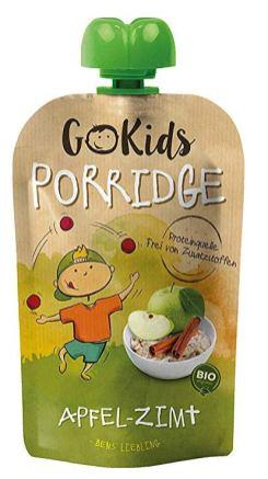 Go Kids Bio-Porridge in der Quetschtube Apfel-Zimt