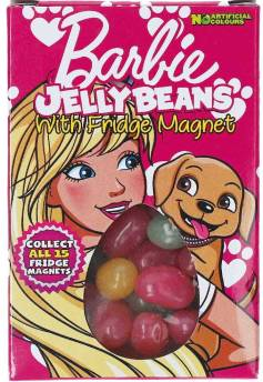 Jelly Beans mit Barbie-Motiv inklusive Kühlschrankmagnet 28 Gramm