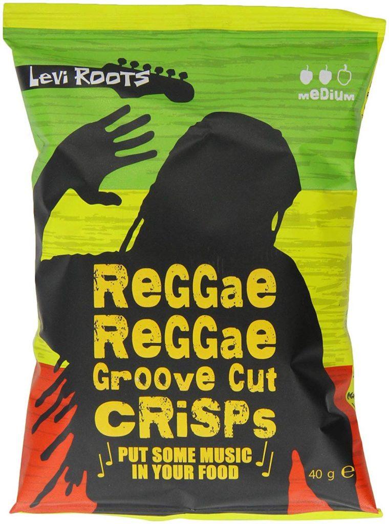 Levi Roots Kartoffelchips Reggae Reggae Sauce Groove Cut Crisps 40 Gramm