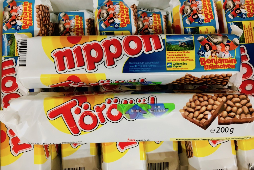Nippon mit Bejamin Blümchen und wiederverschließbarer Öffnung