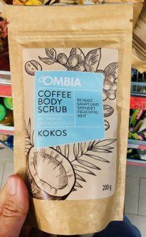 Ombia Coffee Body Scrub Kokos Reinigt und spendet Feuchtigkeit 200 Gramm