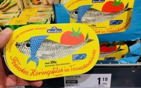 Rügenfisch VEB Fischwerk Sassnitz Feinstes Heringsfilet in Tomatensauce Retro-Verpackung 200 Gramm