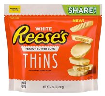 Reese's White Thins Peanut Butter Cups 208G