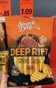 Snackday Deep Rift Grilled Steak Style 150 Gramm Chips