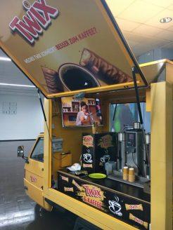 Twix & Kaffee aus dem Twix-Mobil auf Messe ProFachhandel in Nürnberg 2019