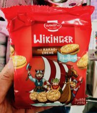Wikana Wikinger mit Kakao-Creme Mini-Doppelkekse