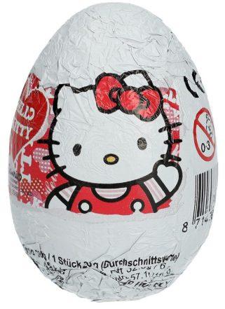 Schokoladen-Überraschungsei mit Hello Kitty-Motiv