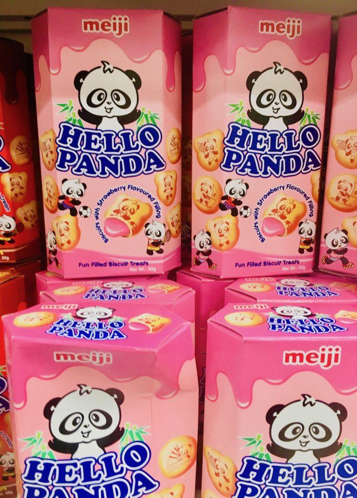 meiji Hello Panda Kekse Erdbeere