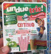 un due tris! merenda Citterio Pausensnack Apfelsaft Prosciutto Sticks und Grissini