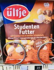 Ültje Studentenfutter mit Cranberries in weißer Schokolade - süß+salzig