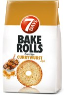 7days Bake Rolls Currywurst-Geschmack Brotchips 250g