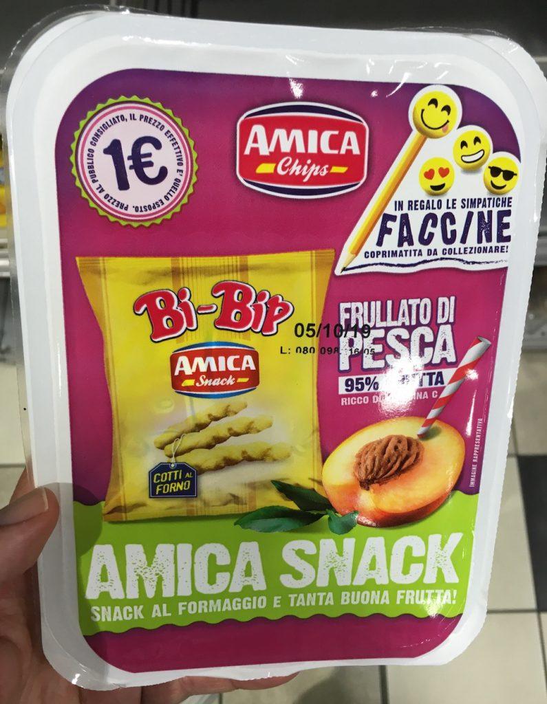 Amica Chips Amica Snack Bi-Bip Cracker Pfirsichsaft Pausensnack Schüler