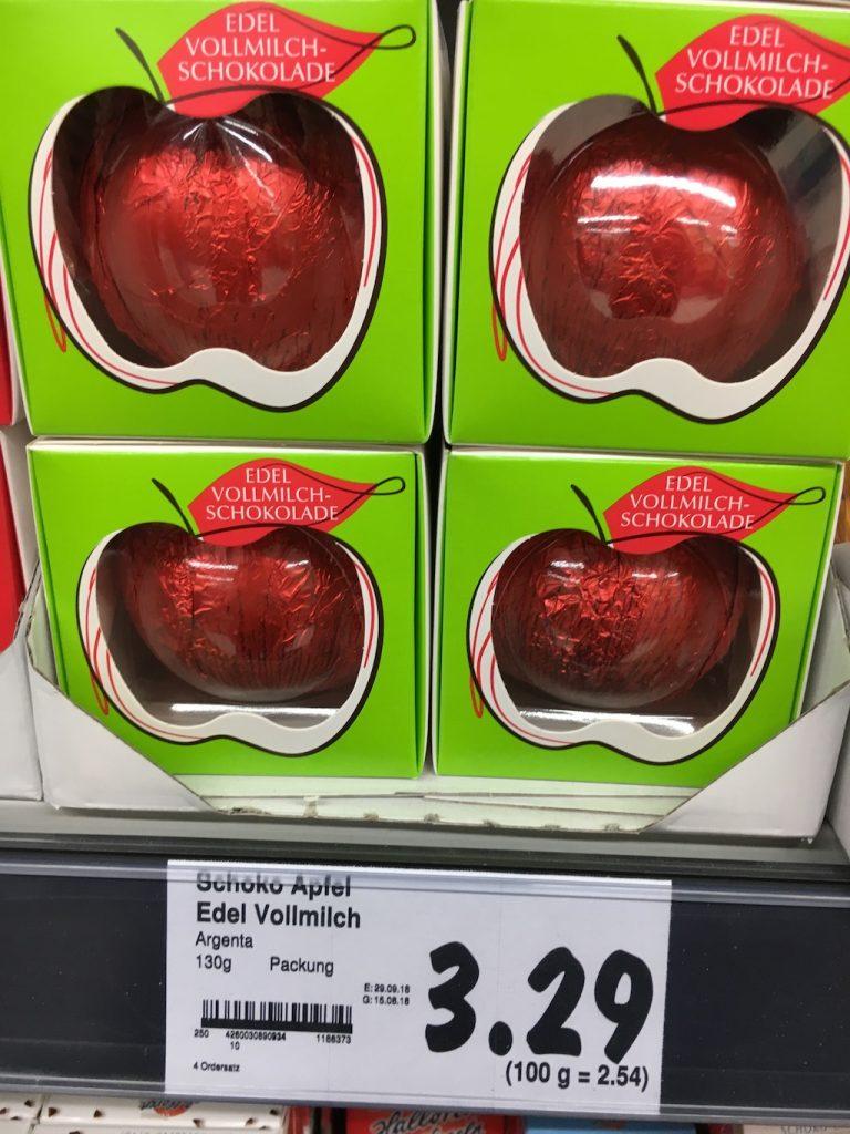 Argenta Schoko-Apfel Edel-Vollmilch 130 Gramm