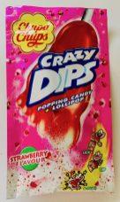 ChupaChups Crazy Dips Popping Candy und Lollipop Erdbeer-Geschmack