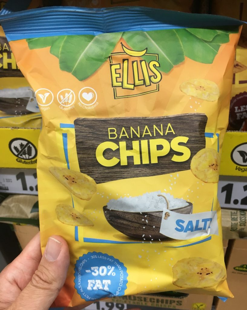 Ellis Banana Chips salty -30% Fat