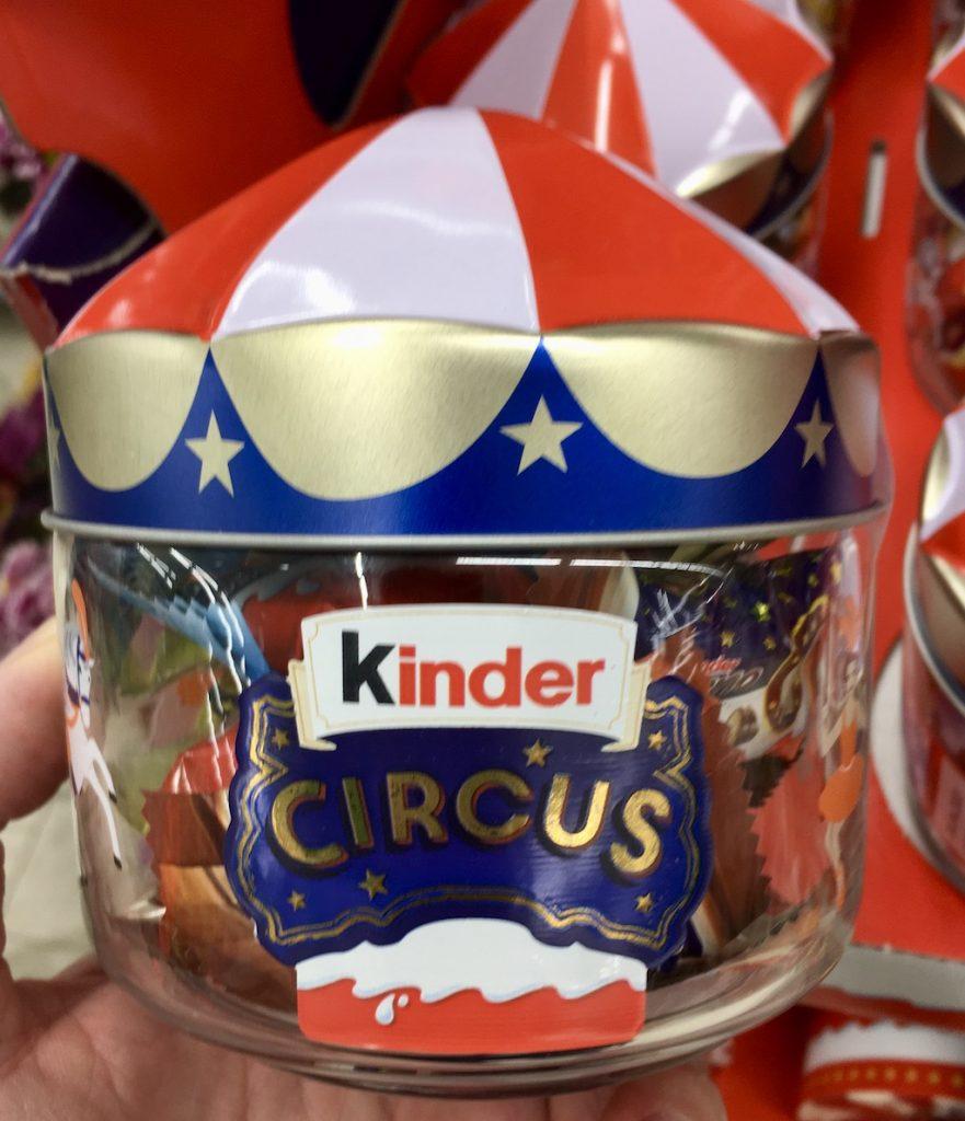 Ferrero KINDER Circus Glasbehälter mit Blechdach